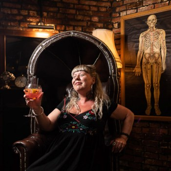 female with large gin and tonic in alternative pub Avant Commercial professional photography for your business - Avant Photographic -photographer Phil Burrowes - Commercial photography - visual content for social media & websites - tell the story of your business