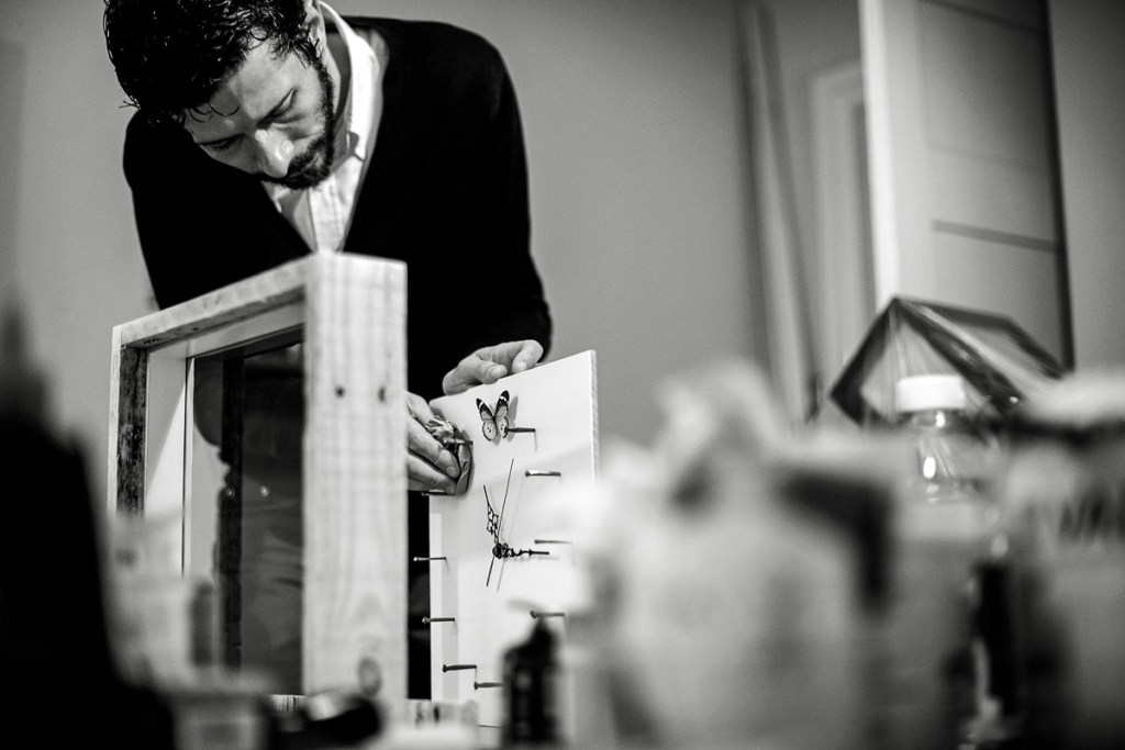 Day in the life photoshoot  A carpenter building bespoke clocks,