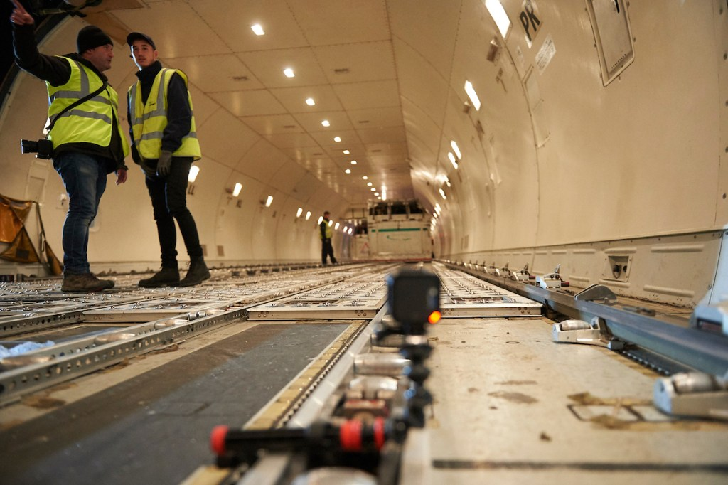 Avant Commercial photography for business - inside a Boeing 747 cargo plane
