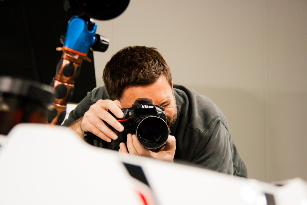 Avant Commercial - Storytelling photography for brand building and digital marketing - Phil on a shoot at Triumph Motorcycles - Solent.